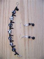 Black and White polka Dot set c107  $35.00 for the set