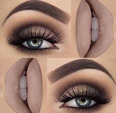 Eye Makeup Tips.Smokey Eye Makeup Tips - For a Catchy and Impressive Look Kiss Makeup, Cute Makeup, Gorgeous Makeup, Pretty Makeup, Makeup For Prom, Prom Makeup For Brown Eyes, Ball Makeup, Rock Makeup, Fall Wedding Makeup