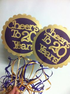 20th Birthday Decorations Centerpiece Signs by FromBeths on Etsy