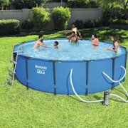18 Round Blue Lagoon 52 Steel With Pool Package Walmart Com Above Ground Swimming Pools Swimming Pools Best Pool Vacuum