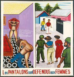 "Chéri Samba, aka Samba wa Mbimba N'zingo Nuni Masi Ndo Mbasi, ""Les Pantalons sont Defendus"""