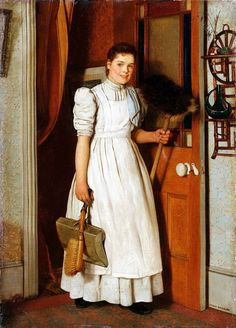 'Working Day', by Charles Spencelayh (British, 1865~1958)