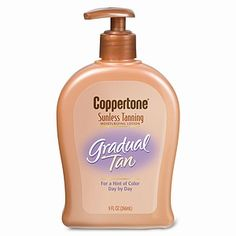 4. Coppertone Sunless Tanning Gradual Tan Moisturizing Lotion