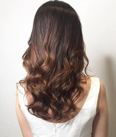 long hair with perm curls for the ends