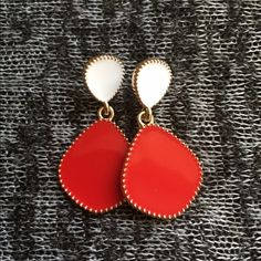 Great holiday gift! Earrings Red/white earrings. 2 for $10 Available in blue and white too Jewelry Earrings
