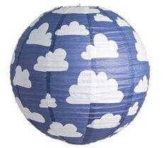 Cloud Blue Paper Lantern