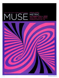 Two of my favourite bands! Muse & Metric poster / design by Kii Arens Rock Posters, Band Posters, Concert Posters, Movie Posters, Muse, Concert Rock, Vintage Music Posters, Graphic Design Trends, Contemporary Artwork