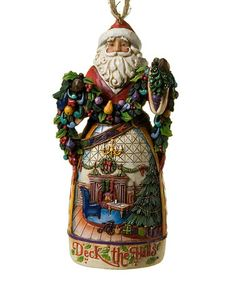 Another great find on #zulily! Deck the Halls Santa Ornament by Jim Shore #zulilyfinds