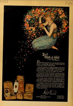 Lazell Cloth of Gold 1918 Perfume Ad, Vintage Perfume, Vintage Makeup, Vintage Beauty, Magazine Illustration, Illustration Art, Vintage Illustrations, Vintage Advertisements, Vintage Ads
