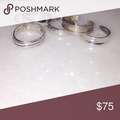 Set of 6 925 Sterling Silver Toe Rings Each ring has a 925 stamp. Available individually. Free People Jewelry Rings