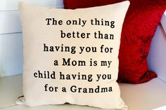 Canvas Stenciled Pillow  New Grandma Gift  by JoaniesFavoriteThing, $30.00  https://www.etsy.com/listing/164203616/canvas-stenciled-pillow-new-grandma-gift?ref=shop_home_active