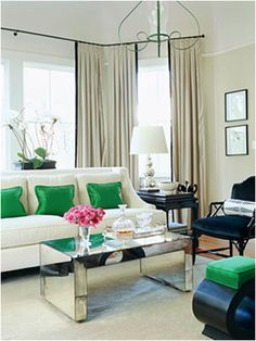 kate spade green pillows