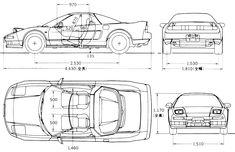 Blueprint Honda Nsx