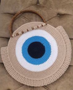 Excited to share this item from my shop: Tote bags, summer bags, evil eye, beach bag, crochet bags Crochet Eyes, Crochet Motif, Diy Crochet, Crochet Patterns, Crochet Handbags, Crochet Purses, Crochet Clutch, Crochet Beach Bags, Crochet Bag Tutorials