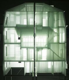 Home Within Home, Do Ho Suh. Fabric models of the former homes of the artist