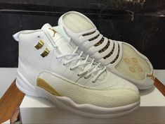 best service b3e7e 30416 Air Jordan 12 OVO Drake White Metallic Gold White Shoes are in stock on hot  selling at the best price. Shop for the popular air jordan 12 ovo for drake  at ...