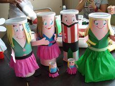 muñecos redonditos con rollos de papel higiénico