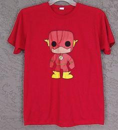 Funko Pop DC Comics The Flash Rare Red T-Shirt Large #DCComics #GraphicTee