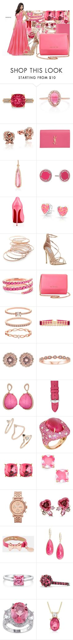 """Untitled #4372"" by brooke-evans12 ❤ liked on Polyvore featuring Sherri Hill, Allurez, Marlo Laz, Disney, Yves Saint Laurent, Irene Neuwirth, Marc Jacobs, Privé, Bling Jewelry and Red Camel"