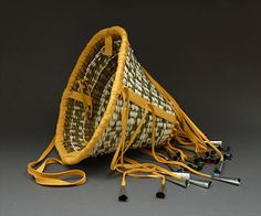 Burden Basket by Armstrong Victor (Apache) Native American Artists, Museum Shop, Print Ideas, Basket Weaving, Baskets, Cool Designs, Prints, Style, Swag
