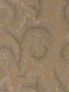 Acantha by Zoffany - Amber - Wallpaper : Wallpaper Direct Glam Wallpaper, Zoffany Wallpaper, Print Wallpaper, Fabric Wallpaper, Wallpaper Roll, Designer Wallpaper, Rotary Screen Printing, Painted Rug, Wallpaper Calculator