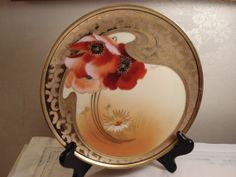 Haviland Limoges Art Nouveau Poppies and Daisies by VintageChambre, $200.00
