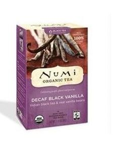 Numi Organic Tea Decaf Black Vanilla Full Leaf Decaf Black Tea 16 Count Tea Bags #Numi