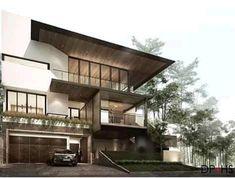 Minimalist House Design, Minimalist Architecture, Concept Architecture, Residential Architecture, Architecture Design, Modern Wood House, Modern House Design, Arch House, Facade House