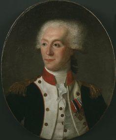 Marie Joseph Paul Yves Roch Gilbert du Motier, 4e. Marquis de La Fayette (1757-1834), Commandant Général de la Garde Nationale et des troupes de Paris, député aux Etats-Généraux de 1789, promoteur de la monarchie constitutionnelle, accusé de trahison il s'enfuit en Autriche (1792) ou le rejoint sa femme et ses enfants. En 1799 il rentre en France.