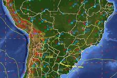 Pesquisadores do CPTEC-Inpe desenvolvem novo modelo atmosférico de circulação global adaptado às condições climáticas da América do Sul (imagem: CPTEC-Inpe)