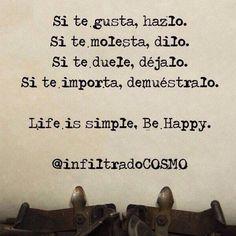 Consejos para ser felizTe recomendamos:Una persona feliz Famosos que dan mensajes positivos Un buen consejo para ser feliz