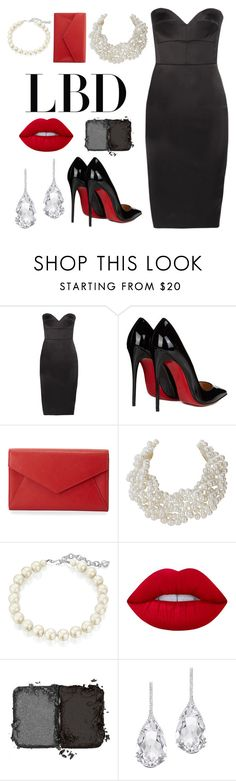 """""""Untitled #56"""" by anna-claire-windham ❤ liked on Polyvore featuring Victoria Beckham, Christian Louboutin, Neiman Marcus, Humble Chic, Carolee, Lime Crime, NARS Cosmetics and Plukka"""