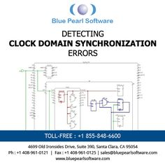 #Blue #Pearl Software detects #clock #domain synchronization errors and identifies data that is generated and consumed by different edges of the same clock and checks for the appropriate use of lock-up latches. #cdc