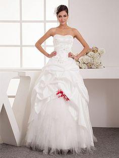 Remi - corte evasé hasta el suelo vestido de novia de tul con apliques
