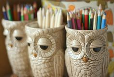 Two of my favorite things combined: an Owl Mug! Owl Mug, Beautiful Owl, Little Owl, Ceramic Owl, Owl Bird, Cute Owl, Color Inspiration, Thrifting, Butterfly