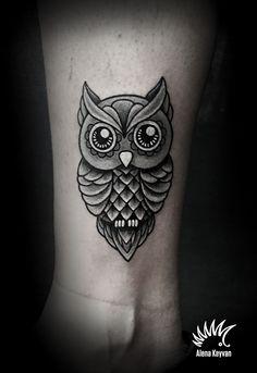 owl tattoo by Alena Keyvan kipodd@gmail.com