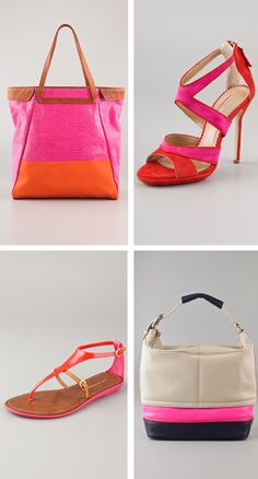 Colorblock-Bags & Shoes 2012 summer trends