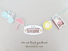 Die cut lined garland, May your day be filled with sunshine @ bloomize.com