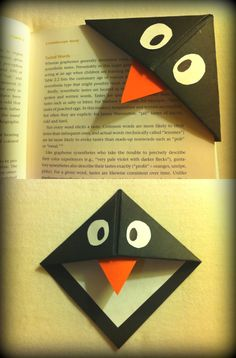 My penguin version of the origami bookmarks! :)