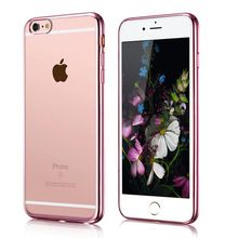 Hot selling Electroplating tpu phone Case For iphone 6 5.5 inch Rose gold mobile phone case