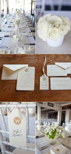 V: Chairtags - add printed anchors instead of Monogram? Newport Harbor Yacht Club Wedding by Studio 28 Photo | The Wedding Story