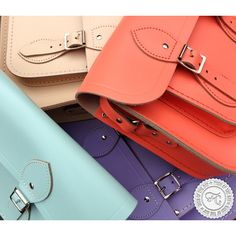 Retro style is back in pastel colours! Chelsea Collection by Cambridge Satchel Company. #oldschool #retrostyle #fashion