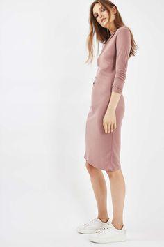 Half Sleeve Drape Midi Dress - Dresses - Clothing - Topshop