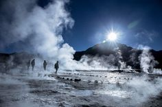 Geysers of El Tatio are the third most important ones in the world.