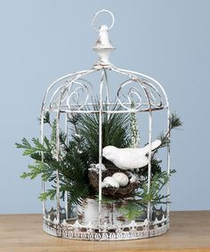 Take a look at this Bird Nest Birdcage by Transpac Imports on #zulily today!