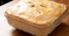 Dig right into this savory and hearty chicken pot pie. Its flavors run deep!