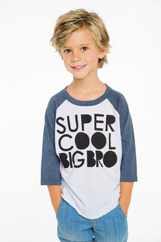For the super cool big bros out there! Get this super-soft vintage-style short-sleeve tee to wear all baseball season long! Available in sizes - Chaser tees run true to size. See all Chaser Items Boys Haircuts Medium, Boys Long Hairstyles Kids, Popular Boys Haircuts, Cute Little Boy Haircuts, Teen Boy Haircuts, Toddler Haircuts, Little Boy Hairstyles, Boys Long Hair Cuts, Shaggy Haircuts For Boys