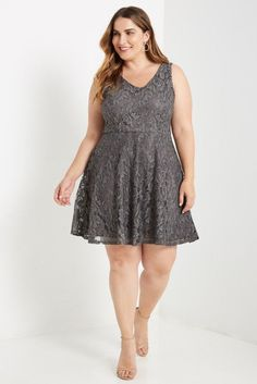 Dawson Fit and Flare Dress Plus Size – Poshsquare