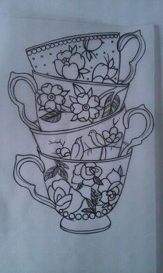 Love the multiple teacups