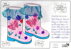 Angela (age It´s FUN. I like to play in the mud with my dogs, I love the rain because I like to wear rain boots and play in the rain. I like to do SPLASH. Design Competitions, Designer Boots, Mud, Rain Boots, Play, Dolls, My Love, Baby Dolls, Puppet